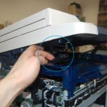 Левый кронштейн сканера