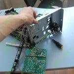 Демонтаж правой части рамы принтера