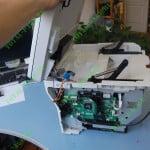 Поднятие блока сканера ввсерх  для последующего его извлечения