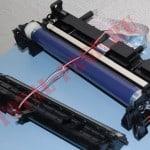 Блок ксерографии разделенный на две части.