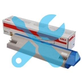 Заправка синего картриджа OKI C911DN / C931DN с заменой чипа