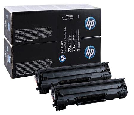 HP Kартридж черный HP 78A (двойной) LaserJet P1566/P1606w (2х2,1K)