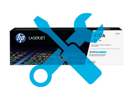 Заправка картриджа CF411A для HP Color LaserJet M452DN / M477 с заменой чипа