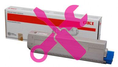 Заправка пурпурного картриджа OKI MC853 / MC873 с заменой чипа