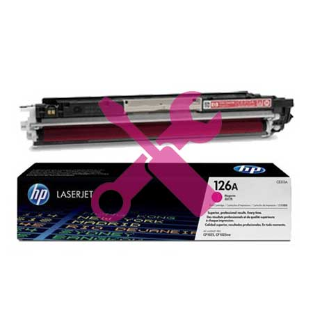 Заправка картриджа CE313A (126) красный для HP Color LaserJet CP1025n/nw / LaserJet Pro CP1025 / Pro 100 M175nw / Pro M275 с заменой чипа