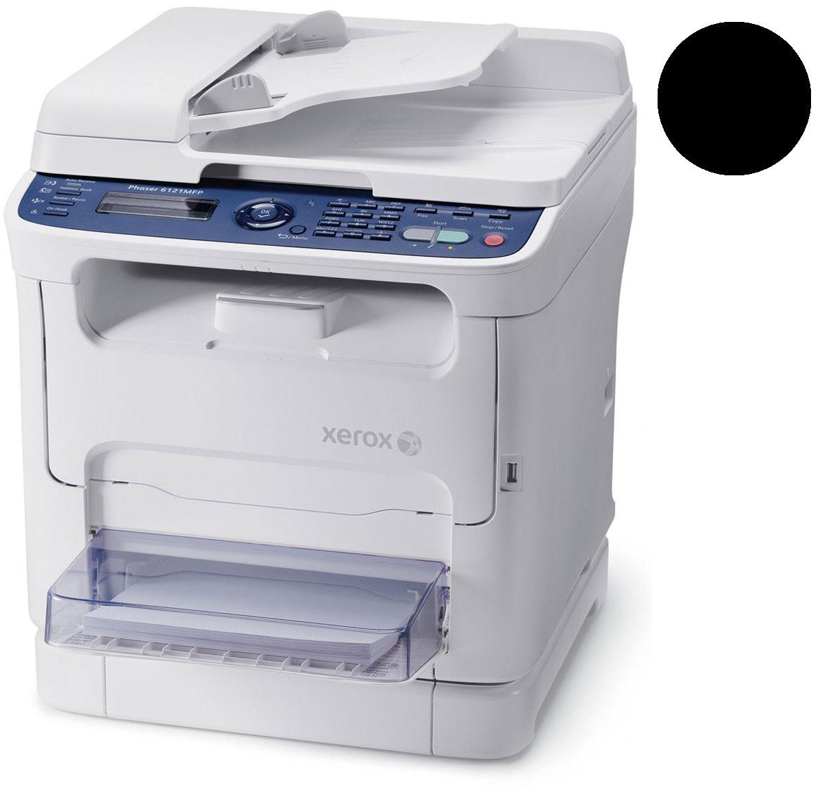 Заправка черного  картриджа Xerox Phaser 6121 MFP с заменой чипа