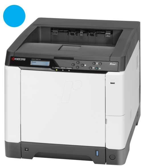 Заправка синего картриджа Kyocera TK-580C с заменой чипа