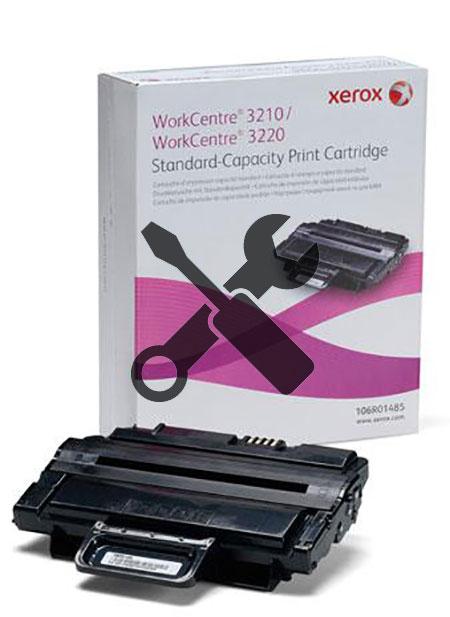 Заправка картриджа Xerox WorkCenter 3210 / 3220 с заменой чипа