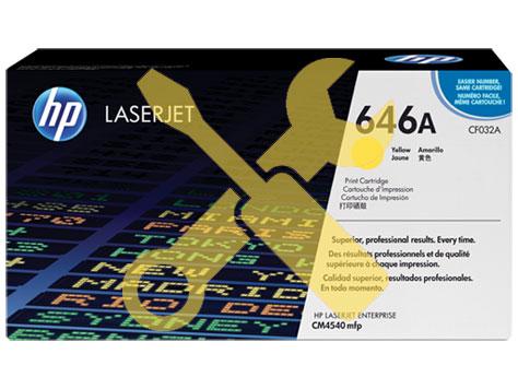 Заправка картриджа CF032A для HP Enterprise CM4540 MFP