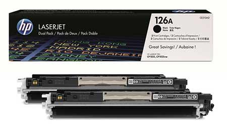 HP Kартридж черный HP 126A (двойной) LaserJet Pro CP1025/CP1025NW (2х1,2К)