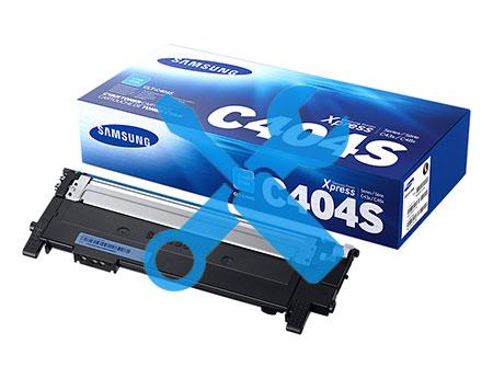 Заправка синего картриджа Samsung CLT-C404S для Xpress C430 / С480 (1K) с заменой чипа