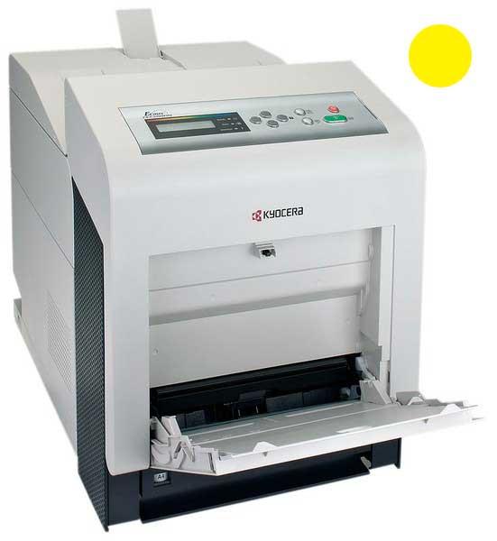 Заправка желтого картриджа Kyocera TK-540C для FS-C5100DN с заменой чипа
