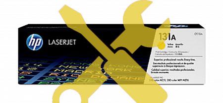 Заправка картриджа CF212A желтый ( 131A) для HP LaserJet Pro 200 MFP M276n / M251