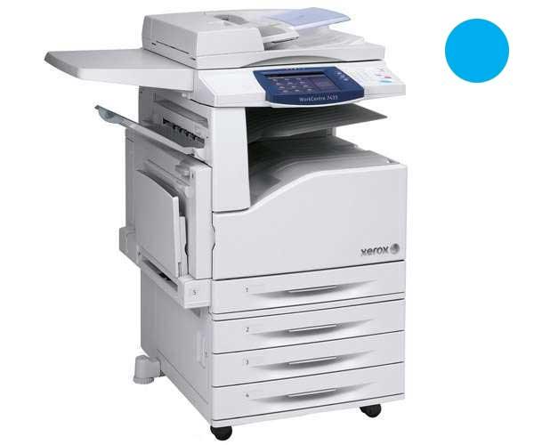 Заправка синего картриджа для Xerox WorkCentre 7425 / 7428 / 7435 с заменой чипа