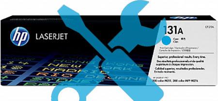 Заправка картриджа CF211A синий ( 131A) для HP LaserJet Pro 200 MFP M276n / M251  с заменой чипа