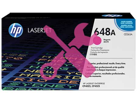 Заправка картриджа CE263A пурпурный ( 648A ) для HP Color LaserJet CP4025 / CP4525 / CP4020 / CM4540
