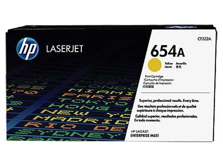 HP Kартридж желтый 654A (CF332A)  HP Color LaserJet Enterprise M651n/ M651dn/ M651xh/ M680dn (15K) ориг.