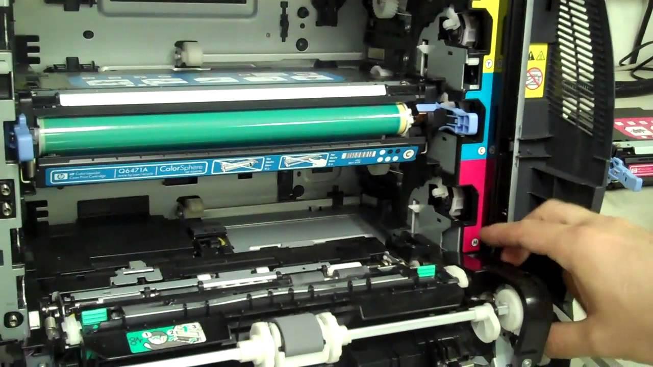 HP Color LaserJet 3000, 3600, 3800, CP3505 ошибка 10.92.00 картриджи не найдены