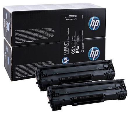 HP Kартридж черный HP 85A (двойной) LaserJet P1102 /P1102w /1130 /1212 /1217 (2х1,6K)