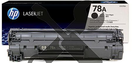 Заправка картриджа CE278A для HP Laserjet  P1566 / M1536 / P1606 с заменой чипа
