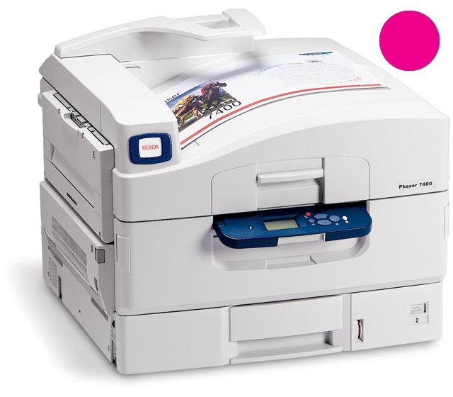 Заправка красного картриджа Xerox Phaser 7400 с заменой чипа