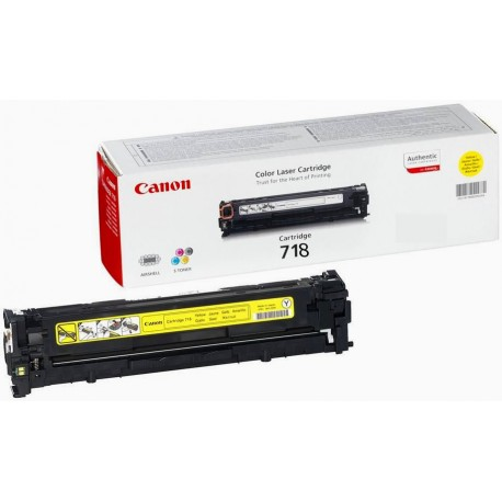 Canon Картридж желтый оригинал (2,9К) [718 Y] для Canon SENSYS MF-8330 / 8350