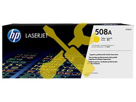 Заправка желтого картриджа HP 508A ( CF362A ) для Enterprise M552 / M553 с заменой чипа