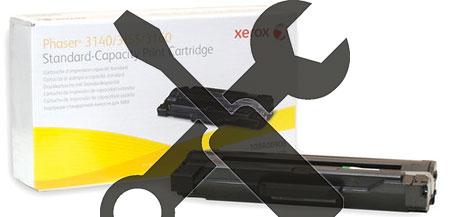 Заправка картриджа  Xerox Phaser 3140 / 3155 / 3160 с заменой чипа