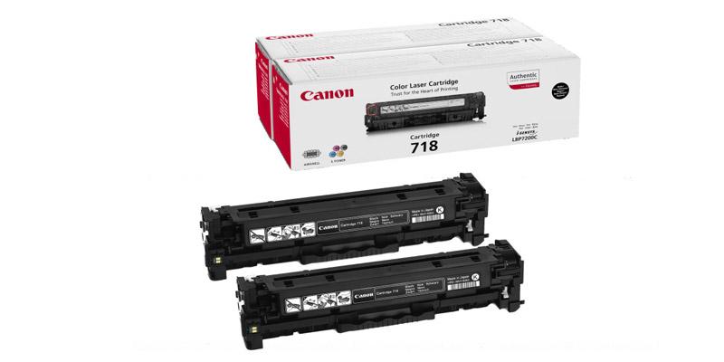 Canon Картридж черный оригинал (6.8K) [718 BK H] для Canon i-SENSYS MF724Cdw / 728Cdw / MF729Cx двойная упаковка