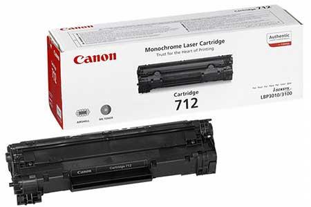Canon Картридж черный оригинал (1,5К) [712] для Canon LBP3010 / 3100 / 3020