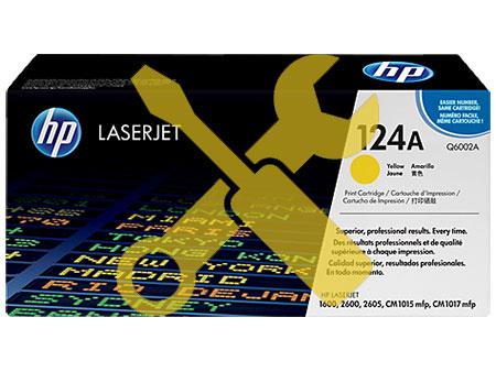 Заправка картриджа Q6002A (124A) желтый для HP Color LaserJet 1600/2600/2600n / 2605 / 2605dn / 2605dtn / CM1015 MFP / CM1017 MFP