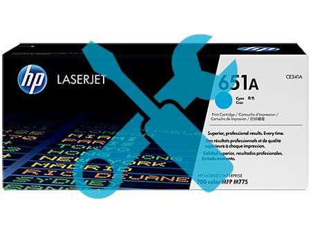 Заправка картриджа CE341A для HP LaserJet Enterprise 700 color MFP M775DN / M775F