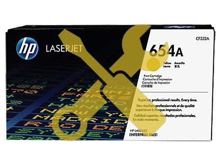 Заправка картриджа CF332A (653A) желтый для HP LaserJet Enterprise M651, MFP M680, Flow MFP M680, Pro MFP M675 с заменой чипа