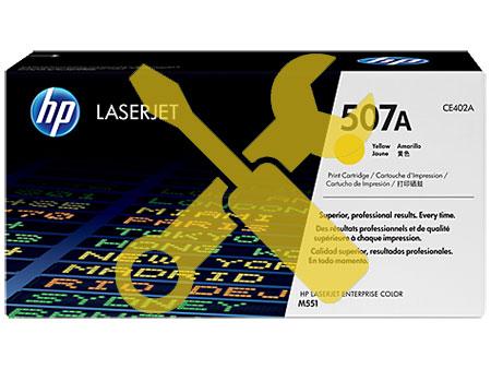 Заправка желтого  картриджа CE402A 507A для HP LaserJet Enterprise 500 color M551dn / M551n / M551xh / M575f / M570dn
