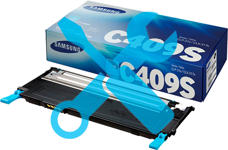 Заправка синего картриджа для Samsung CLP-310 / CLP-315 / CLX-3170 / CLX-3175 с заменой чипа