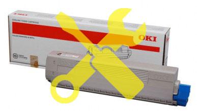 Заправка желтого картриджа OKI MC853 / MC873 с заменой чипа