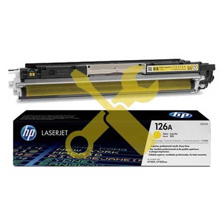 Заправка картриджа CE312A (126) желтый для HP Color LaserJet CP1025n/nw / LaserJet Pro CP1025 / Pro 100 M175nw / Pro M275 с заменой чипа