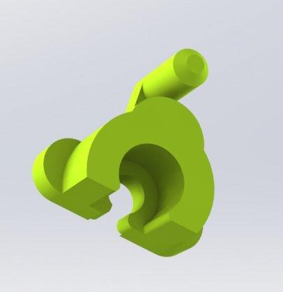 Фиксатор ролика протяжки дуплекса HP / Canon 3D модель для печати