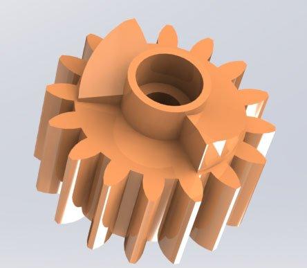 Составная часть шестерни привода узла термозакрепления HP  CP1025/ M175/ M176/ M177/ M275 /  Canon LBP-7010c/7018c модель для 3d печати