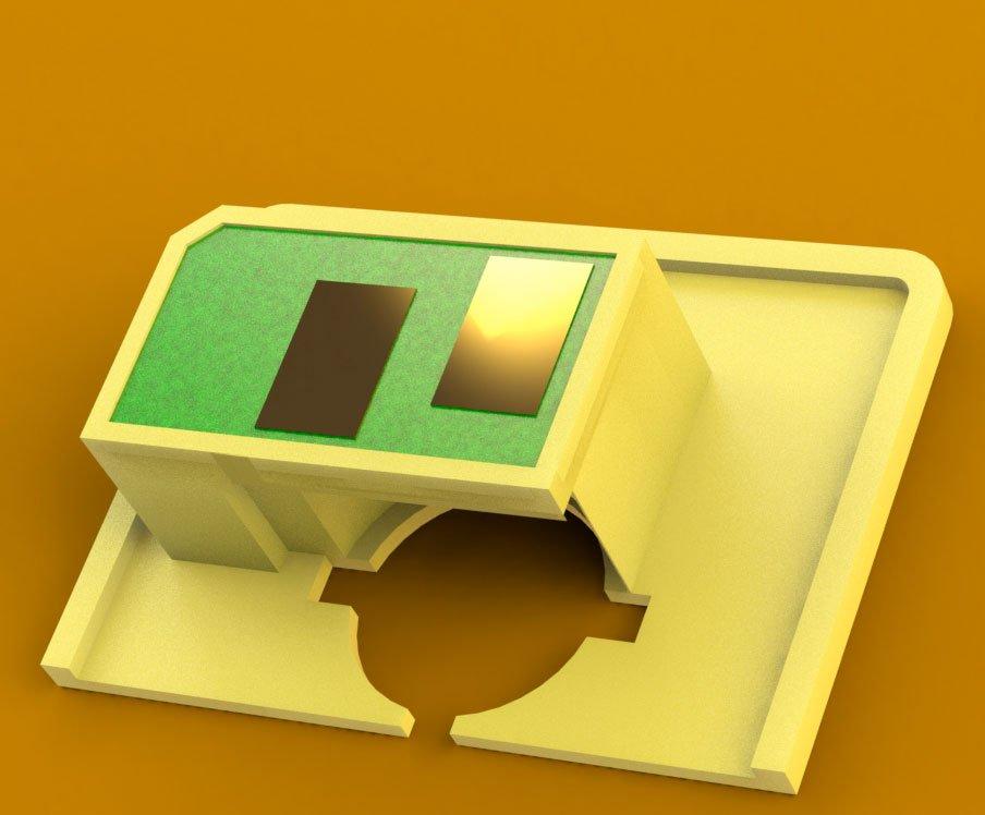 Колодка под чип для OKI C332dn /MC363dn  модель для печати
