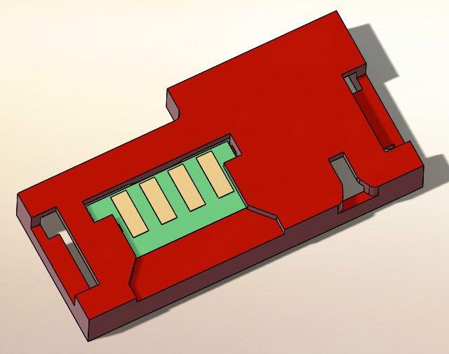 Колодка под чип для Xerox 6020 /6022/ 6025 / WC6010 /6015 модель для 3D печати