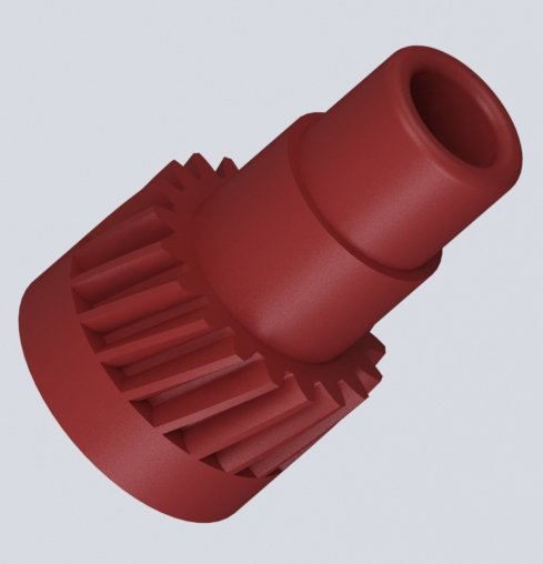Шестерня шнека отвода отработанного тонера  для блока ксерографии Xerox 6010 / 6015 / 6020 / 6025 3D модель для печати