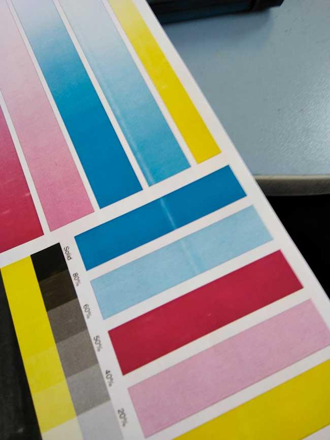 Пример синего дефекта печати