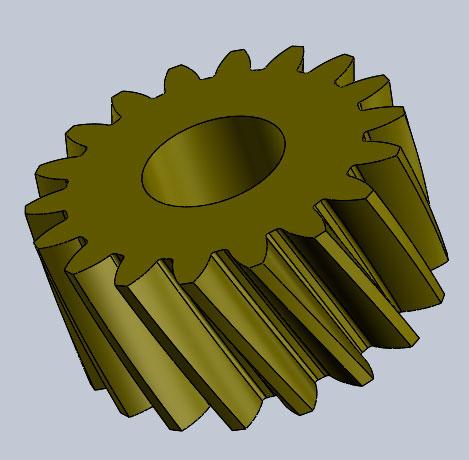 Промежуточная шестерня датчика тонера для драма OKI C711/C610/C712/C612/C7411W  модель для печати