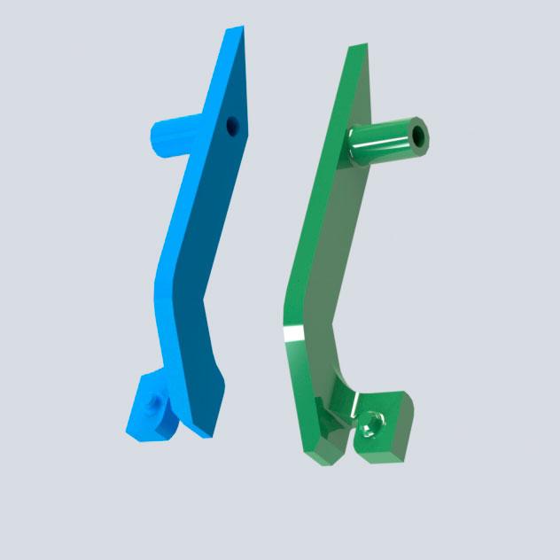 Комплект направляющих JC72-00984A /JC72-00985A  для Samsung ML-1400, ML-1510, ML-1710, ML-1750, SCX-4100, SCX-4200, SCX-4300 модель для 3D печати