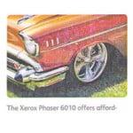 Пример тест-листа с принтера xerox Phaser 6010 с дефектом выноса девелопера