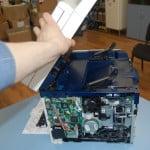 Демонтируем блок сканера