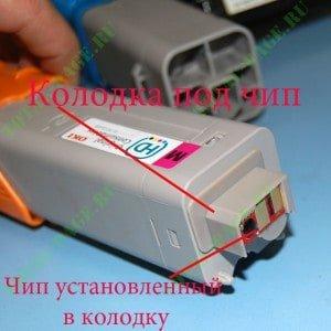 Колодка с установленным чипом