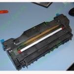 Печка от принтера OKI C301DN с намотавшейся бумагой на термовал