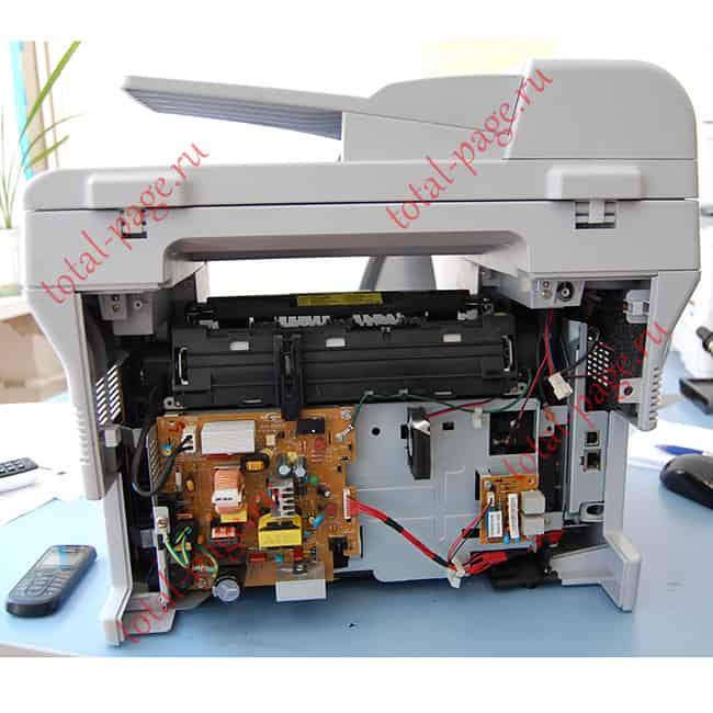 SCX-4321 со снятой задней